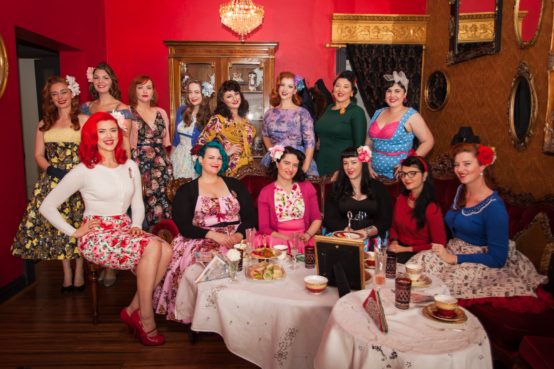 When Melbourne Pinups Do High Tea...
