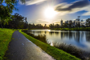 The Winter Afternoon Melbourne Sun