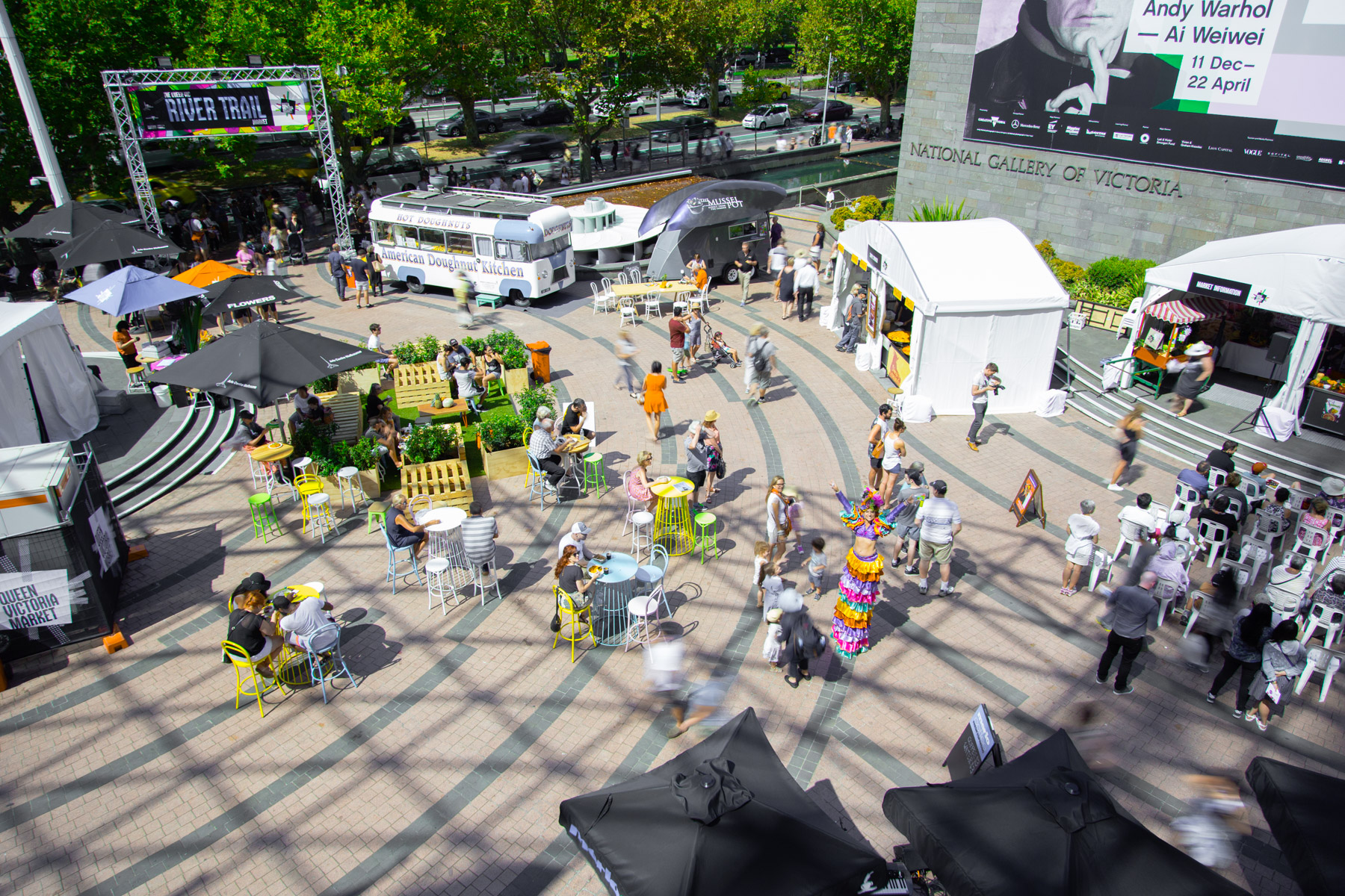 The Queen Vic River Trail Market - Melbourne Food and Wine Festival 2016