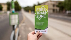 Great marketing pitch for the Free Tram Zone