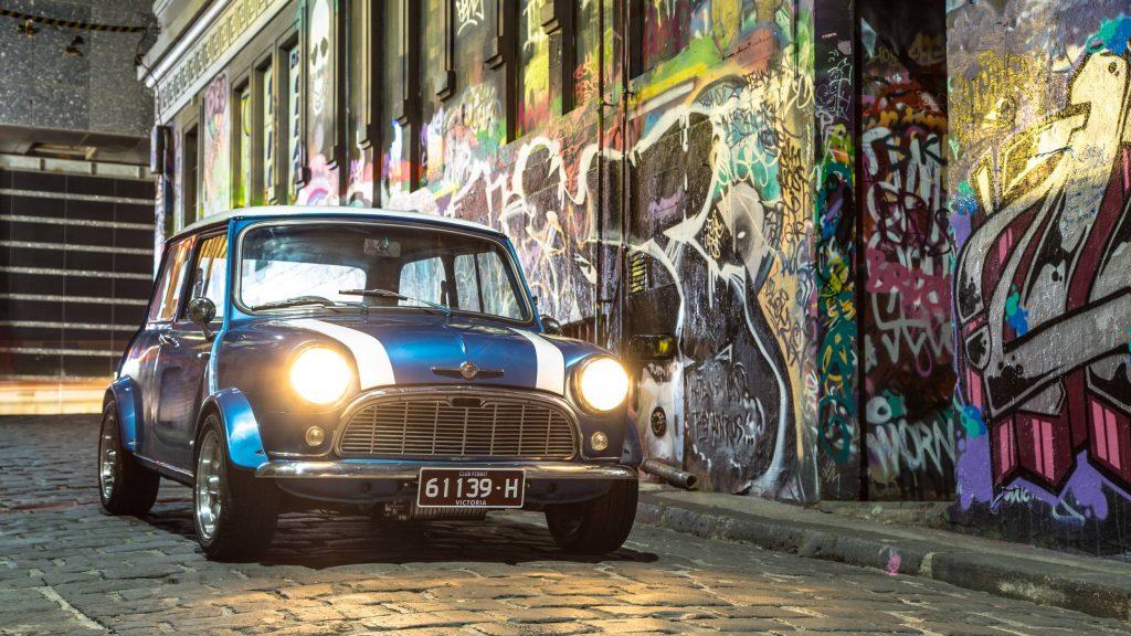 1963 Mini in Hosier Lane