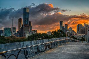 Sun-Kissed Sky over Melbourne