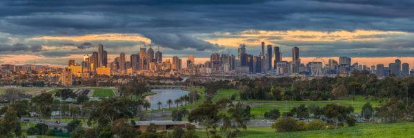 Last Splash of Sunshine on Melbourne