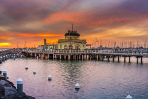 Fire In The Panoramic St Kilda Sky