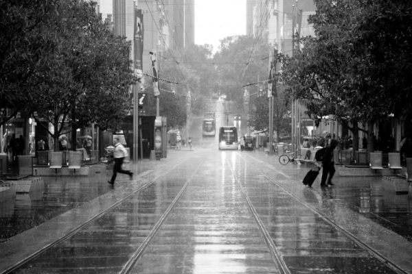 Running in the Melbourne Rain