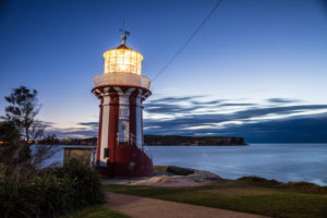 Hornby Lighthouse over Lady Bay