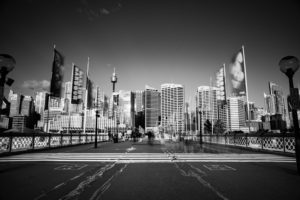 Pyrmont Bridge at Darling Harbour